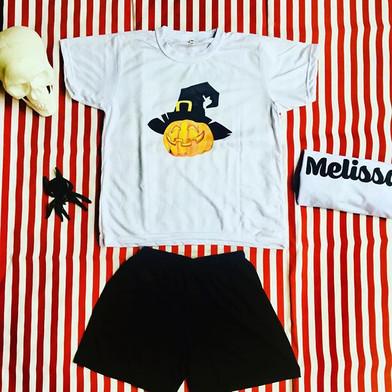Pijama em Malha estampa Tema Halloweeen