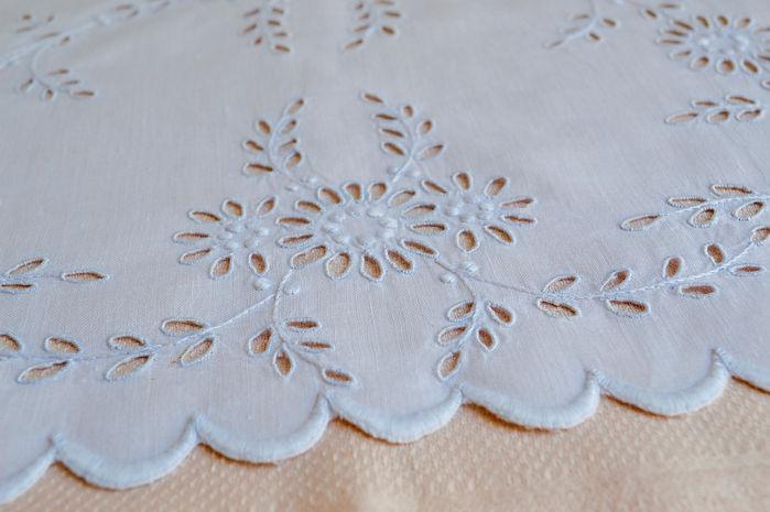 Irish Linen whitework embroidery