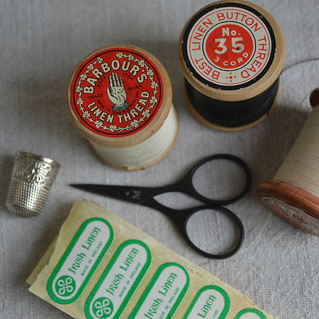 Spools of Barbour Irish Linen threads