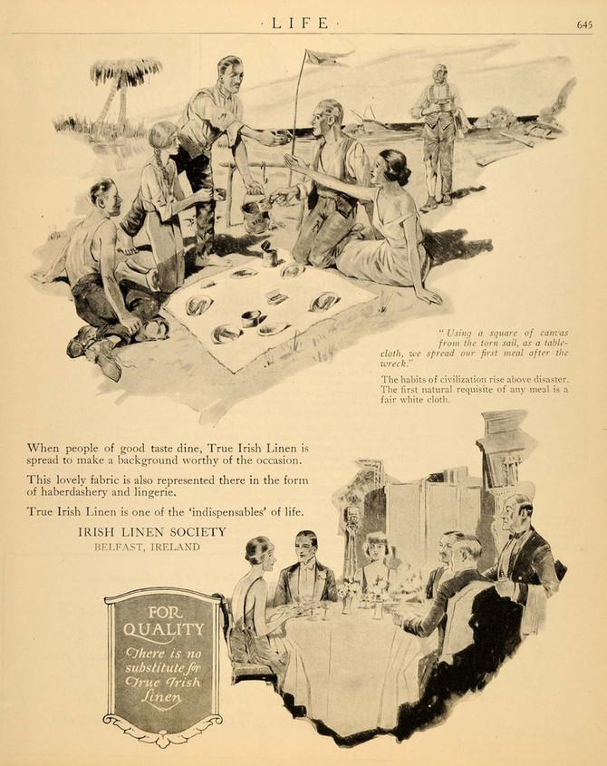 Adverts for Irish Linen