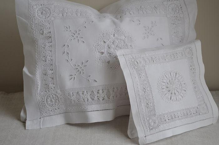 Irish Linen with whitework