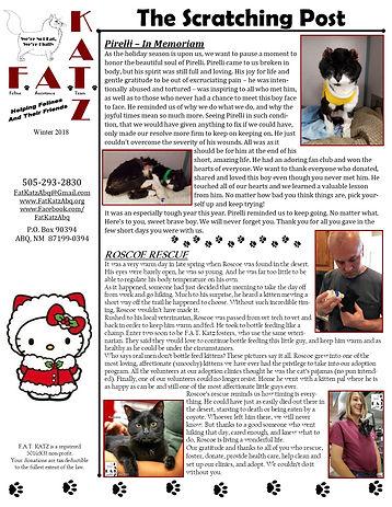 Dec. '18 newsletter