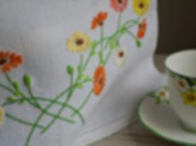 Irih Linen hand embroidered Tea Cosy Cover, McBurneyandBlack