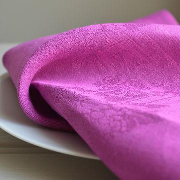 Irish Linen Revived Damask napkin, Amethyst fro McBurneyandBlack