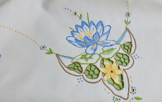 Irish Linen Madeira Embroidery
