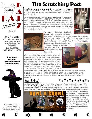 Oct. '18 newsletter
