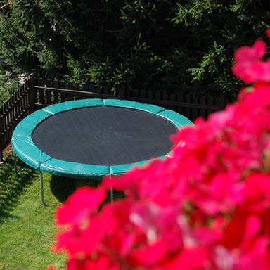 Communal trampoline area