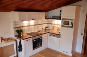 Kitchen in the Edelweiss Spitze apartment