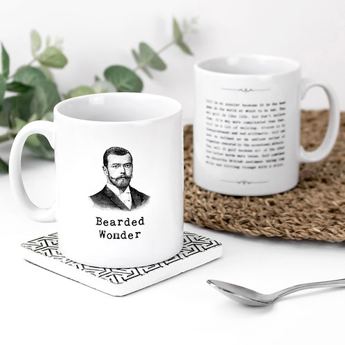 Bearded Wonder Vintage Words Quotes Mug x 3