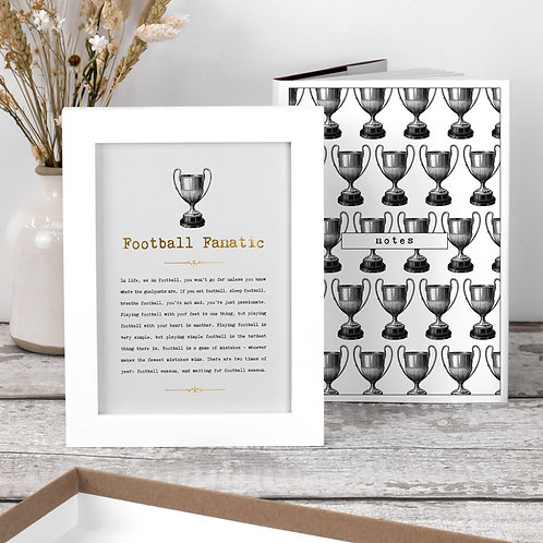 Football Gift Set with Notebook and Print