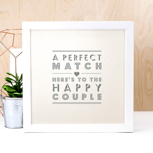 Perfect Match | Pearlescent Wedding Toast Print