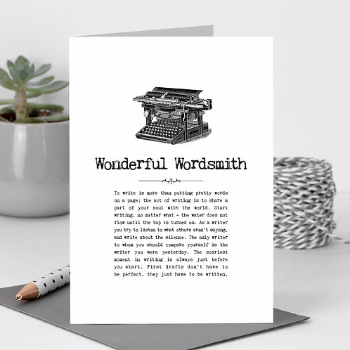 Wonderful Wordsmith Vintage Words Greeting Card x 6