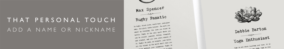 WEB BANNER - Vintage Words - A4 Prints (