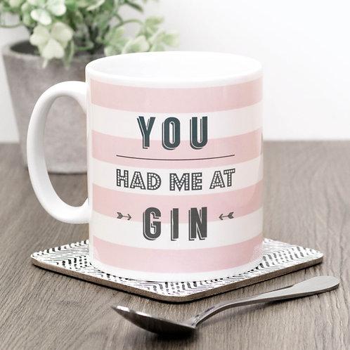 You Had Me at Gin | Pink Stripe Mug