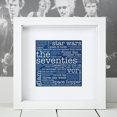 Seventies Square Print x 10 (Mega Discount Bundle £1.75 EACH)