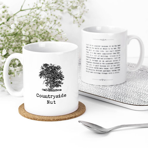Countryside Nut Vintage Words Quotes Mug x 3