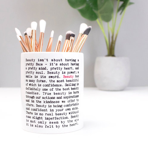 Beauty | Wise Words Make-Up Brush Pot x 3