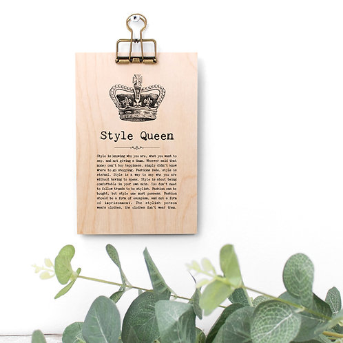 Fashion Quotes Wooden Sign with Hanger