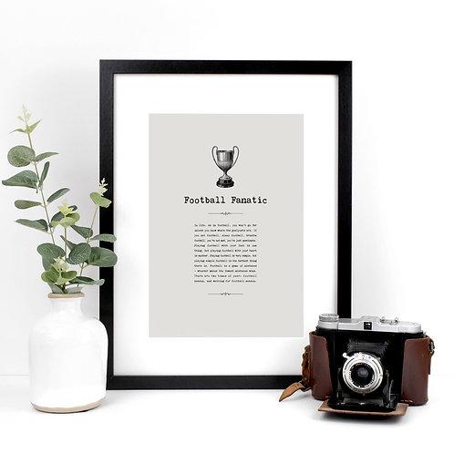 Football Vintage Grey A4 Quotes Print x 3
