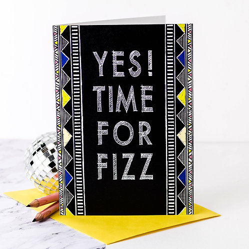 Time for Fizz | 10 Birthday Party Invites