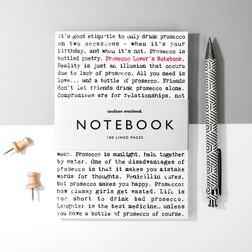 Wise Words A6 Pocket Notebook for Prosecco Lovers