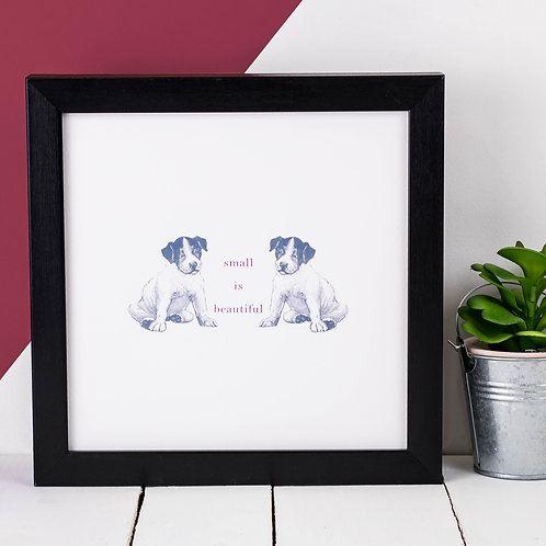 Puppy Vintage Animals Print x 3