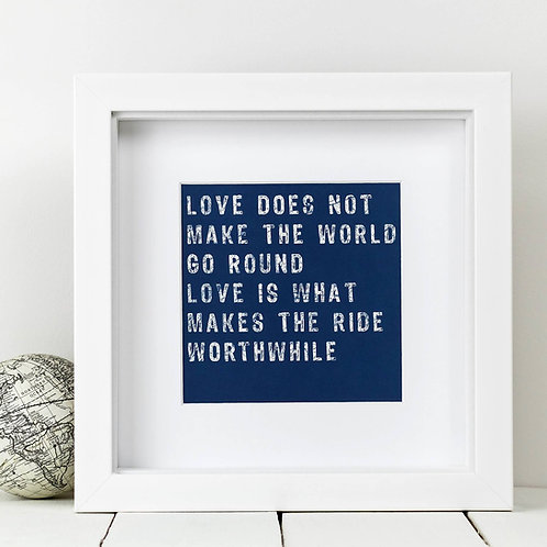 World Love Square Print x 10 (Mega Discount Bundle £1.75 EACH)