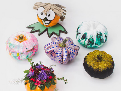 Dazzling & Different No-Carve Pumpkin Decorating Ideas for Halloween 2019
