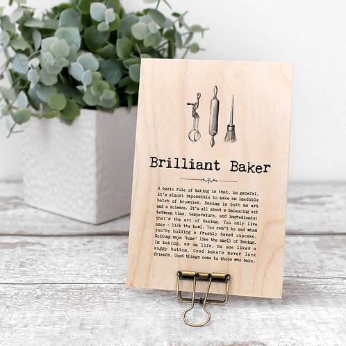 Baking Quotes Mini Wooden Sign with Hanger