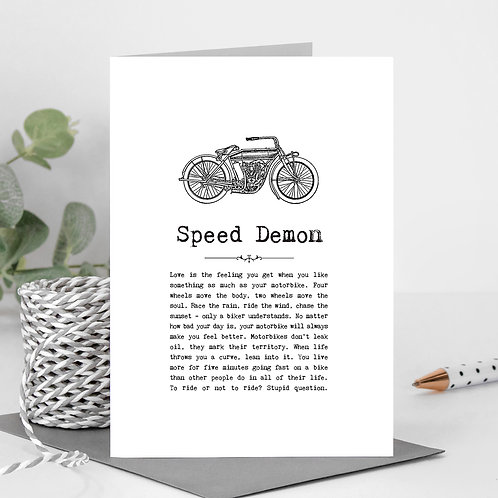 Motorbikes Greeting Card with Quotes