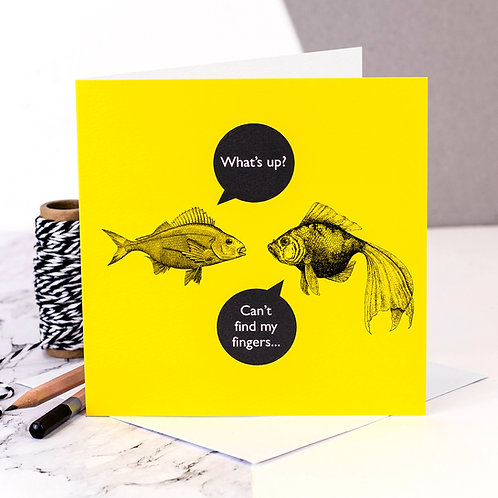 What's Up? Funny Fish Card x 6
