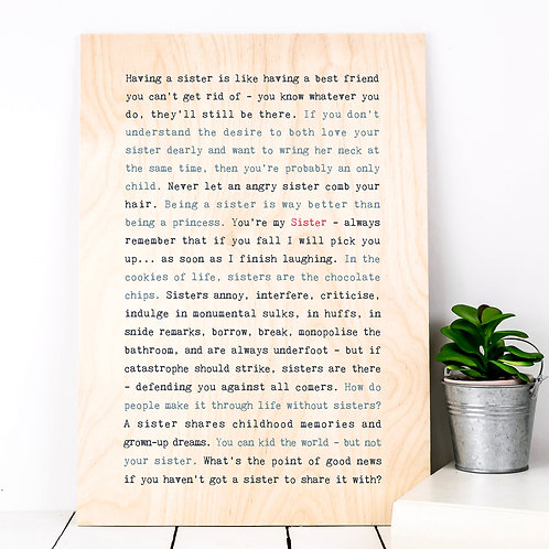 Wise Words RECIPIENT Plywood Prints (16 Designs)