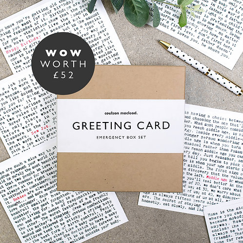 The ULTIMATE 'Wise Words' Collection | Emergency Box Set of 20 Cards