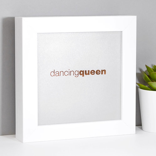 Dancing Queen Silver Mini Framed Print for Her