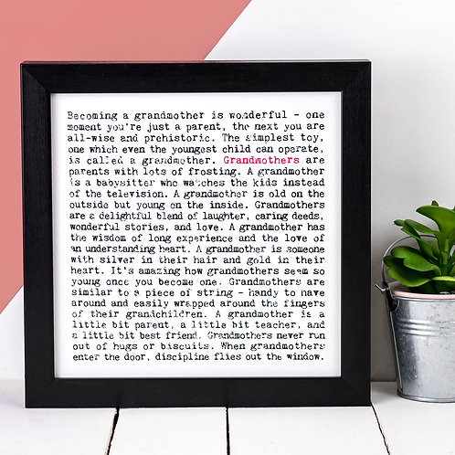 Grandmothers Wise Words Print x 3