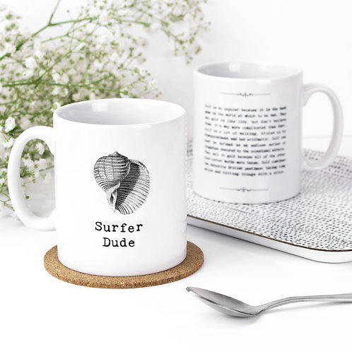 Surfer Dude Personalised Surfing Quotes Mug