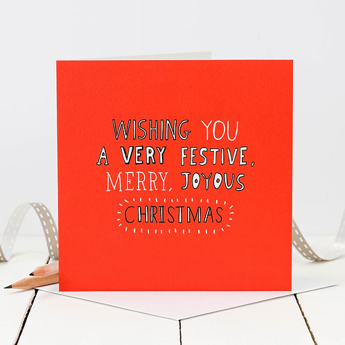 Merry Christmas Doodle Card x 6