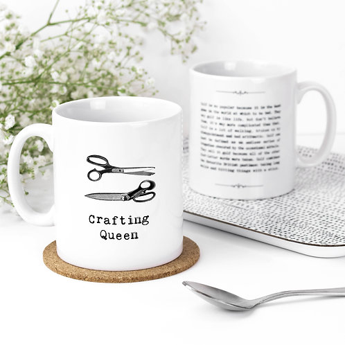 Crafting Queen Vintage Words Quotes Mug x 3