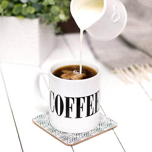 Monochrome COFFEEHOLIC Mug