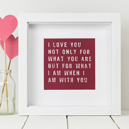 Love You Square Print x 10 (Mega Discount Bundle £1.75 EACH)