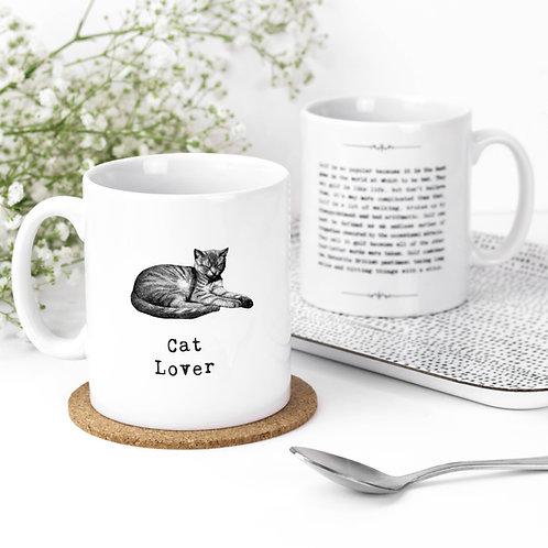 Cat Lover Vintage Words Quotes Mug x 3