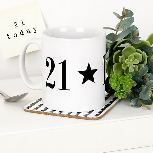 Monochrome 21 TODAY Mug x 3