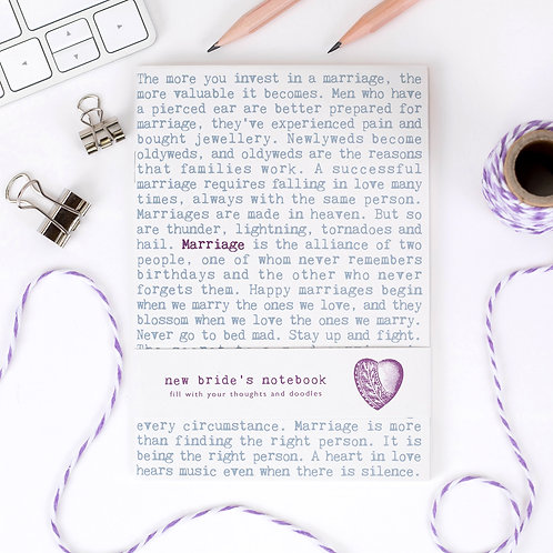 Bride A6 Notebook x 10 (Mega Discount Bundle 41p EACH)