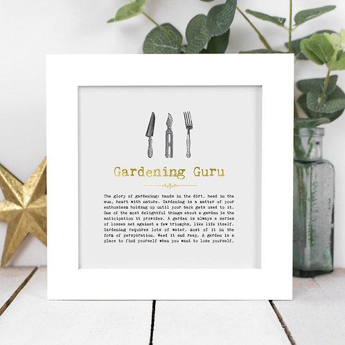 Gardening Guru Personalised Framed Quotes Print