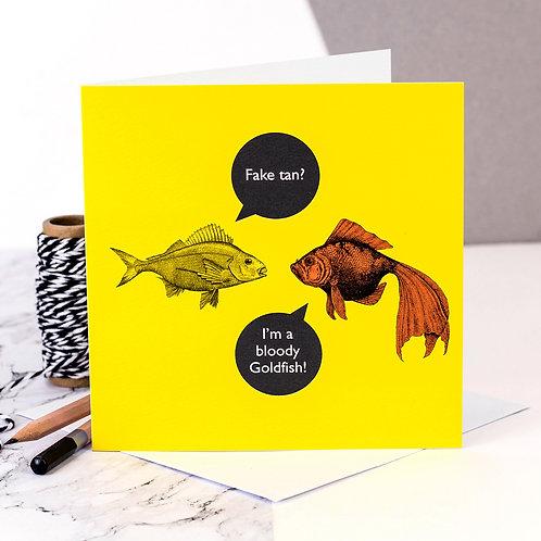 Fake Tan Funny Fish Card x 6