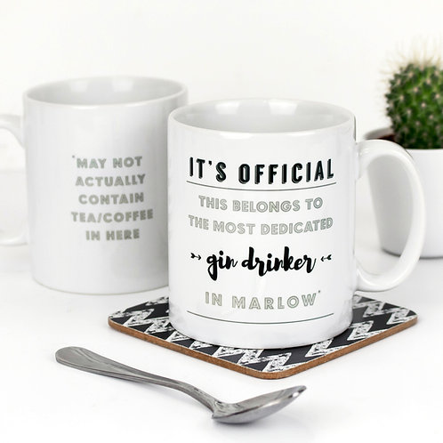 Holy Moly Gin Drinker Personalised Mug x 3