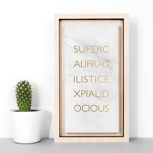 Supercali Mary Poppins Marble Print x 3