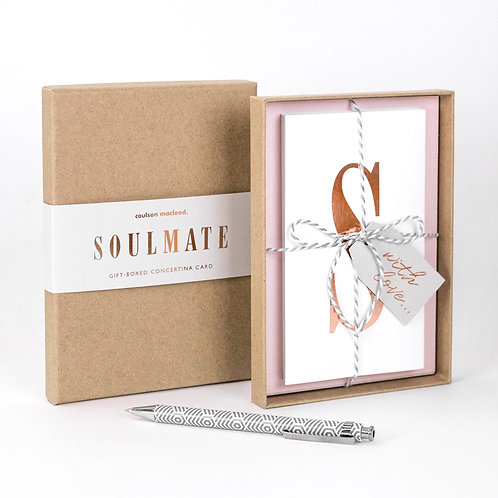 Soulmate | Luxury Boxed Concertina Card x 3