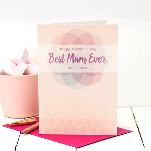 Best Mum Ever | Modern Floral Mother's Day Card