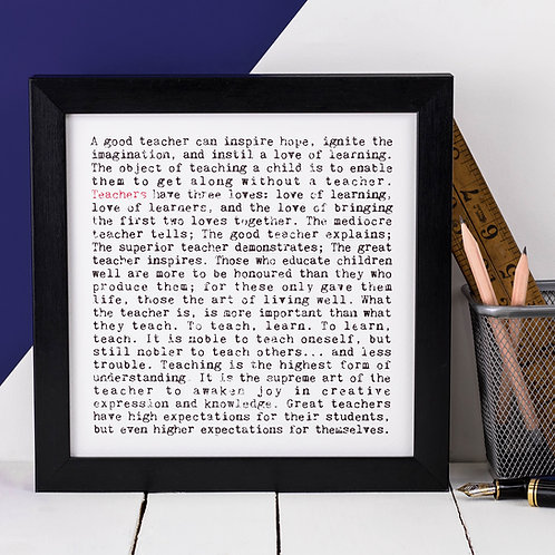 Teachers Wise Words Print x 3